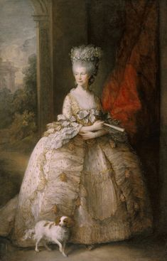Ten great portraits of Queens   Madame Guillotine. Queen Charlotte, Gainsborough, 1781. Photo: Royal Collection. Queen Charlotte. Again, not the most attractive of ladies but one whose sterling personal qualities clearly more than compensated for this so who are we to carp?She and Marie Antoinette were great friends despite never having met. Charlotte prepared sumptuous rooms for Marie Antoinette should she manage to escape to England during the Revolution.