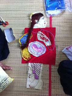 Dharavi Embroidery Collage based on embroiderer's own history