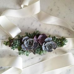 Wearable Succulent Bridal Sash | Passionflower