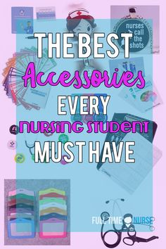 The best accessories every nursing student must have! These nursing accessories will not only make you a better nurse, but will help you get through nursing school! Nursing Student Organization, Nursing Student Gifts, Nursing School Graduation, Nursing School Notes, School Organization, Nursing Students, Medical Students, Nursing Classes, Ob Nursing