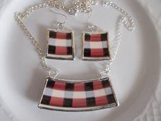 broken china jewelry Velleroy&Boch fajansz kézműves ékszer, nyaklánc, fülbevaló