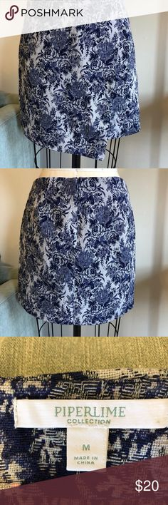 Piperlime tapestry print wrap skirt Piperlime tapestry print wrap skirt Color purple/grey Size medium Material poly cotton Unlined wrap style asymmetrical skirt Condition Preowned in perfect condition Piperlime Skirts Asymmetrical