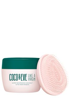 Packed full of nourishing ingredients, Coco and Eve's Like A Virgin Nourishing Coconut & Fig Hair Masque promises to strengthen, repair, tame, treat, condition, soften and shine the hair for full replenishment. Raw virgin coconuts prevent breakage and split ends. The coconut penetrates deep into the follicles to help promote a healthy scalp and prevent problems such as dandruff. Argan oil treats split ends and tames frizz, making your hair more manageable. All while adding gloss and a go...