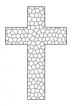 Free Printable Cross Coloring Pages   Coloring pages   Stained Glass ...