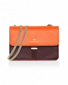 49551cd8a6 Juliet - Mini Chain Bag in Tangerine/Ox Blood - Benah for Karen Walker -