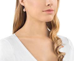 LOVE. Parallele Pierced Earrings from #Swarovski