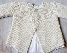Baby Cardigan / Knitting Pattern Instructions by LittleFrenchKnits
