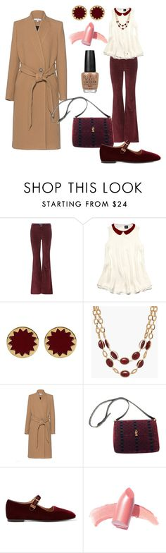 """""""Winter Dinner Date"""" by klm62 ❤ liked on Polyvore featuring M.i.h Jeans, Slater Zorn, House of Harlow 1960, Talbots, IRO, Roberta Di Camerino, The Row, Elizabeth Arden and OPI"""