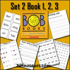 Free Bob Books Early Reading Printables: Set 2 Book 1, 2, 3 | Free Homeschool Deals ©