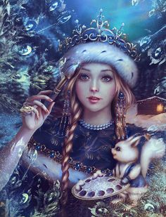 ❄A MidWinter's Night's Dream❄...Snow Maiden...By Artist Unknown...