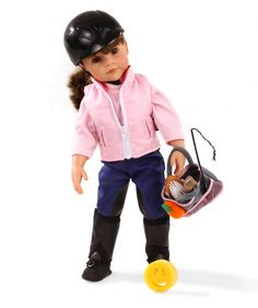 Gotz Hannah Horse Riding Doll.  Hannah comes with her Show Outfit, Grooming Bag, Sponge and Carrot to feed her Pony.