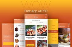 WOW Modern Mobile App UI PSD