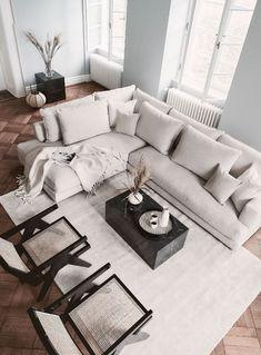 Living Room Goals, Home Living Room, Apartment Living, Living Room Designs, Living Room Decor, Bedroom Decor, Beige Living Rooms, Living Room Furniture, Living Room Inspiration
