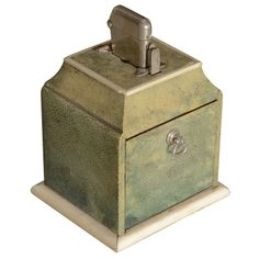 Extremely Rare French Shagreen Cigarette Box and Lighter | From a unique collection of antique and modern boxes at http://www.1stdibs.com/furniture/more-furniture-collectibles/boxes/