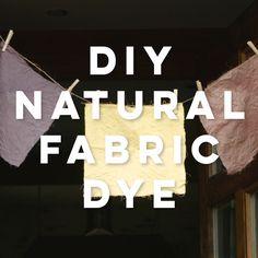 DIY Natural Fabric Dye                                                                                                                                                                                 More