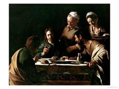 Giclee Print: Supper at Emmaus Art Print by Caravaggio : 24x18in