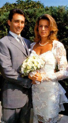 Princess Stephanie of Monaco and Daniel Ducruet wedding on July 1,1995(divorced on Oct 4,1996)