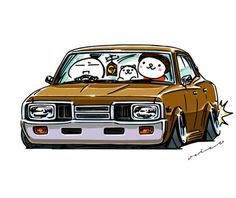 """crazy car art"" jdm japanese old original characters ""mame mame rock"" / © ozizo Official web shop ""STAY CRAZY (in Official web shop ""ozizo(in Redbubble"") ""Crazy Car Art"" Line stickers ""Crazy car Art"" Telegram stickers Weird Cars, Cool Cars, Liberty Walk Cars, Supercars, Car Animation, Car Illustration, Japan Cars, Car Drawings, Telegram Stickers"