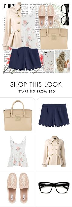 """""""Chic Look"""" by candy107 ❤ liked on Polyvore featuring Furla, Boutique Moschino and Kate Spade"""