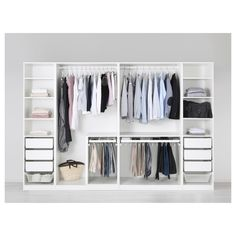 IKEA - PAX Wardrobe white, Fardal high-gloss/white