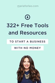 If you've been dreaming of starting or growing a business ❤, this guide is for you… Download my free checklist and discover 322+ FREE tools you can use to start and grow your dream business—all for zero dollars #marieforleo #businesstools #businessresources #newbusiness #femaleentrepreneur
