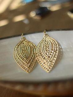Pointed Paisley Earrings.
