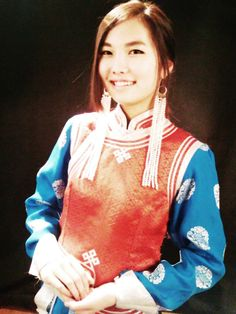 "This is our mongolian traditional clothing called ""deel"" ;)"
