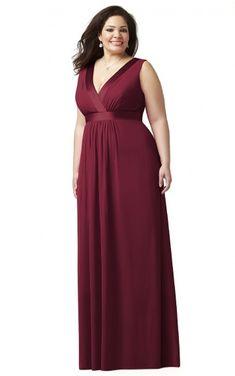 0 V-neck Empire A-line Floor-length Bridesmaid Dresses 074p005