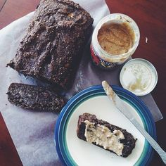 No class on Friday calls for some baking. Buckwheat and hemp banana bread from @insaminsa's insta that was amazing! Gluten free, refined sugar free, and vegan -Sami  #Padgram