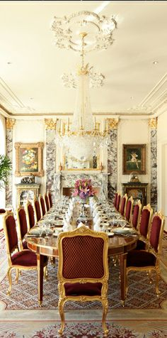 Luxurious French style dining room