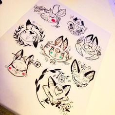 c8e14f68cba883f48b95804e431774d7--bunny-tattoos-fox-tattoos.jpg (736×736)