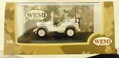 Rare-Wemi-UN-Willys-MB-Jeep-1-43-CJ-2A-Lebanon-1978-Die-Cast-Collector-Military