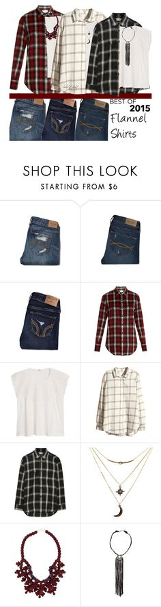 """""""Trends of 2015: Flannel Shirts"""" by boho-at-heart ❤ liked on Polyvore featuring Abercrombie & Fitch, Hollister Co., Yves Saint Laurent, MANGO, H&M, Charlotte Russe, Ek Thongprasert and American Eagle Outfitters"""