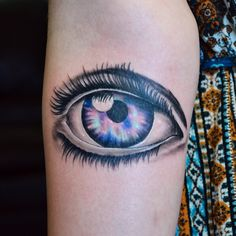 Custom Galaxy Eye Tattoo By Joshua Doyon (IG:@InkedUpGing)