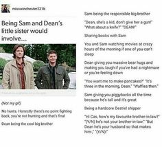 They are already my brothers. The Doctor is our dad but hid as John Winchester To keep us safe. Supernatural Drawings, Supernatural Imagines, Supernatural Funny, Supernatural Fanfiction, Rhode Island, Winchester Boys, Super Natural, Destiel, Superwholock