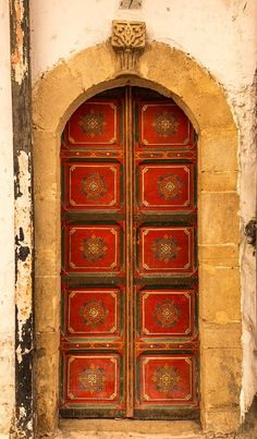 Red and Gold Patterned Doorway