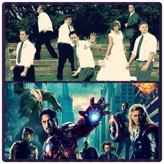 Avengers wedding photo :)