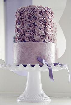 purple wedding cake- LOVE THIS