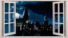 Hogwarts/Harry potter 3D Window Effect Vinyl Wall Art