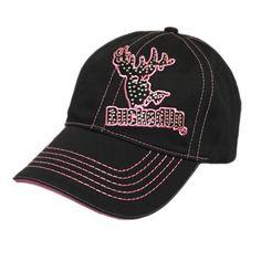 Black Pink Bling Hat