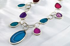 Color Connect Agate Necklace - I LOVE this!!