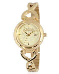 We love this beautiful golden watch! An amazing fashion item!