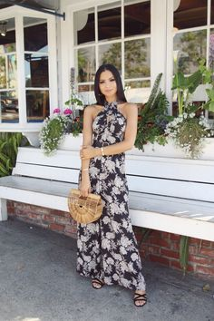 f8ede1470a Black   White Floral Jumpsuit – Diana Saldana