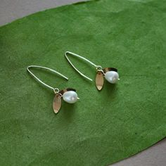 Gold Filled Lilly of the Valley Earrings by lsad on Etsy, $28.00