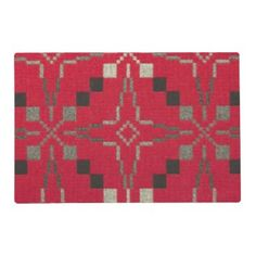 "Title : #601, Tribal, Geometric, Abstract, Red Hue Fabric Placemat  Description : Tribal, Geometric, Abstract, Red Hue Fabric. Tribal-Geometric-Ethnic Patterns, include Stripes, Arrows, Triangles, Animal-Drawings, ""Woodland-Animals, Floral, Cross, Circles, Plus Signs, Broken Checks, Abstract, ""Spiritual-Inspired"", ""Sacred-Geometric-Shapes, ""Symbolic-Shapes, Feathers, Mystique, Spirits, ""Indian-Language-Symbols"", ""Native-American Symbols"", ""Native-American-Pottery-Designs"",  Product…"