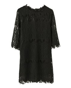 Half-sleeves Md-long Lace Dress