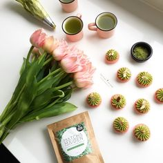 Mix & Match - Matcha Macarons and Matcha Tea. Love it #Macarons | Nectar and Stone #nectarandstone