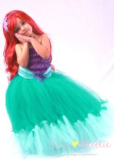 Tutu Skirt Made to Order Teal Mermaid by Cutiepatootiedesignz
