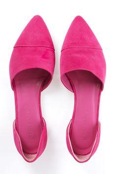 Jenni Kanye Flats, pink suede.