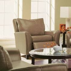 Palliser Furniture India Recliner Upholstery: All Leather Protected - Tulsa II Bisque